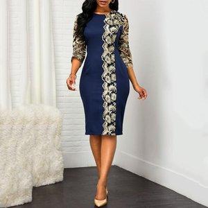 Этническая одежда S - 5XL плюс размер женские африканские африканские платья для женщин кружевные цветы лоскутное платье вечерняя вечеринка 2021