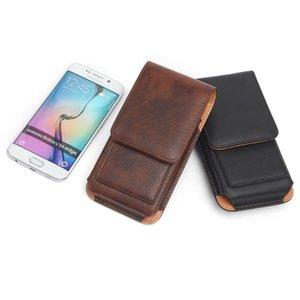 """Талия вертикальная PU кожаный кожурный ремень чехол для переноски с слотами для карточек 4.7 """"-6.3"""" Сумки сотовых телефонов"""