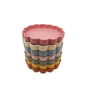 2020 New Arrivals Wholesales Manufacturer Nordic Portable Silicone Non-slip Flower Shape Bowl placemate Edible Baby Shower Gift 1060 Y2