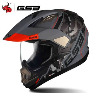 GSB RCYcle Cross Full Face Crosshill Casque hors route Hommes Casco Moto ECE approuvé