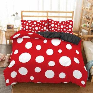 Bedding Sets Bedroom Pink Set Polka Dot Pattern Duvet Cover King Size Comforters For Queen High Quality Bed Linens