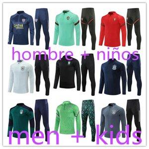 kids + mens 2021 Spain football training suits tracksuit kit survetement foot soccer chandal futbol designers tracksuits hombre jackets