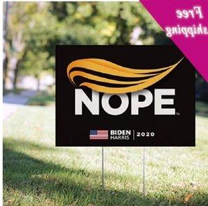 Joe Biden Campaign Yard Trump Nope 2020 Sinal Político Grande inclui Gramado H-Stake impermeável Impresso Personalizar HH9-3278