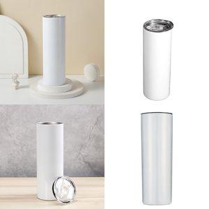 20oz Сублимационные заготовки Кубки Сублимации Тумблеры прямые двойные изолированные нержавеющие сталь бутылка воды