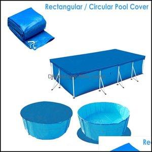 Pool Water Sports Outdoorspool & Aessories Rectangar Er Tarpain Solar Swimming Protection Rainproof Cloth Heat Insation Film For Swim Drop D