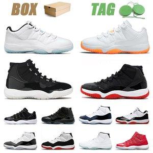 Nike Air Jordan Retro 11 25th AJ Jordans 36-47 مع الصندوقكرة السلة الرياضة 25 الأحذية الحمضيات منخفضة كونكورد عالية brd gamma الأزرق مربى و ثوب المرأة 11 ثانية أحذية أصيلة