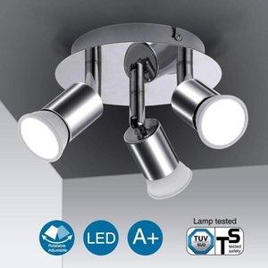 Spotlights 3 4 Heads 100-220V GU10 LED Rotatable Stylish Ceiling Light Lamp Spotlight Fitting For Home Store Shop Exhibition Lighting