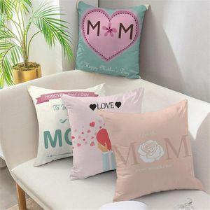 Karikatür Çiçek Baskı Dekoratif Yastık Kılıfları Kare Çiçek Atmak Yastıklar Yatak Kanepe Sandalye Araba Koltuk Minderi Kapak 45x45 Yastık / Dekoratif