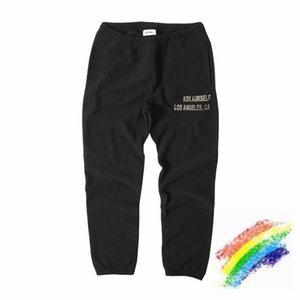 Pants Men Women 1 High Quality Vintage Washed Fleece Foam Printing Sweatpants Heavy Fabric Trousers