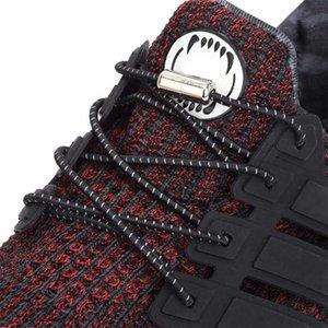 Yansıtıcı Ayak Bileşkileri Elastik Metal Ucu Yuvarlak Hiçbir Kravat Uygun Hızlı Kilit Ayakkabı Dantel Çocuk Yetişkin Unisex Tembel Bağcıklar