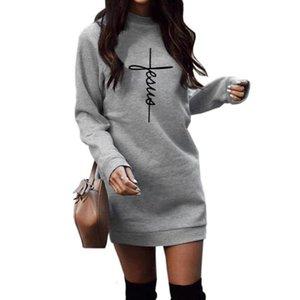 Feaua Letters Print Hoodies For Women Round Neck Long Sleeve Hoodies Women Sweatshirts Kawaii Loose Clothings Funny Pockets