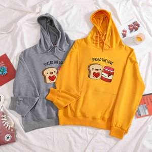 Cute Thin Sweatshirt for Girls 100% Cotton Hoodie Women Oversize Hoodies Woman Strawberry Jam Print Funny Plus Size Hooded Lady Y0310