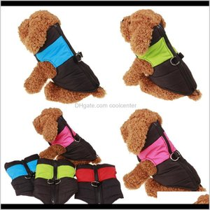Apparel Pet Supplies Home & Garden Drop Delivery 2021 Small Dog Clothes Down Jackets Winter Warm Thick Vests Waterproof Nylon Cloth Coats Dou