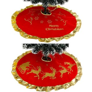 Christmas Tree Skirt Decorations Ornaments Elk Suede Christmas Home Decor 2 Styles GWF10372