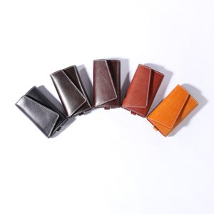 Key Packet 2021 Vegetable Tanned Cow Leather Car Key Case Japanese Ring Vintage