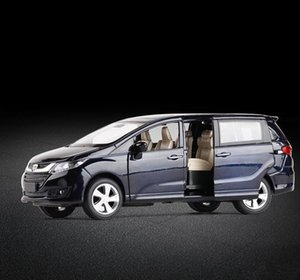 High simulation Honda Odyssey,1:32 scale alloy pull back car model,diecast metal toy vehicles 6 open doors, Y200109