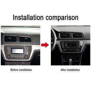 Carbon Fiber Car Interior Central Control Board Trim Sticker Air Outlet CD Decorative Frame Decal for Volkswagen LAVIDA
