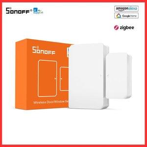 Smart Home Control Sonoff SNZB-02 Zigbee درجة الحرارة الرطوبة الاستشعار EWELINK التطبيق في الوقت الحقيقي تحقق العمل مع Zbbridge Alexa Google
