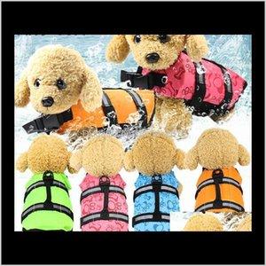 Drop Delivery 2021 Summer Life Vest Jacket Swimsuit Waterproof Apparel Ice Cooling Dog Pet Supplies Home & Garden Ha093 Zeedo