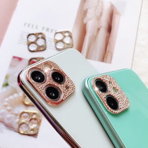 3D Glitter Diamond Bling Chrinshone Camera Lens Protector Cover для iPhone 11 12 Mini Pro Max