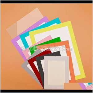 Frames A3A4A5 Paperboard Po Mat Picture Frame With Backing 10 Colors Mounted For Ding Painting Certificate Passepartout 4Pcslot Funct Kr6Ds