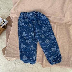 Jeans 2021 Arrival Girls Boys Denim Long Pants Autumn Fashion Kids Jean 2-8 Years WD340