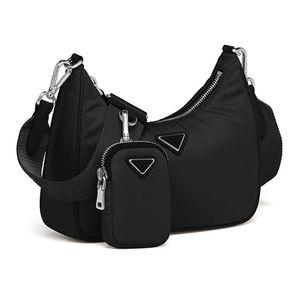 Высокое качество Hobo подмышечная сумка на ремне мода Парашюта ткань нейлоновый Tote роскошный дизайнер луна в форме средних дам Crossbody