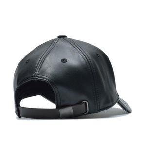 2020 Best [NORTHWOOD] Solid Winter Leather Baseball Cap Men Branded Snapback Autumn Warm Black Cap Women Bone Masculino Mens Caps and Hats