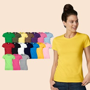 Cheap 100% Cotton Blank Custom Plain Women Wholesale Casual Tshirts For Printing