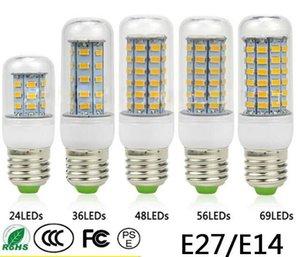 E27 E14 24W SMD5730 LED Lamp 7W 12W 15W 18W 220V 110V Corn Lights Bulbs Chandelier 36 48 56 69 72 LEDs