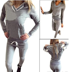 Women Sport Suit Hoodie Sweatshirt+Pant Jogging Femme Marque Survetement Sportswear 2pc Set Tracksuit S-XL