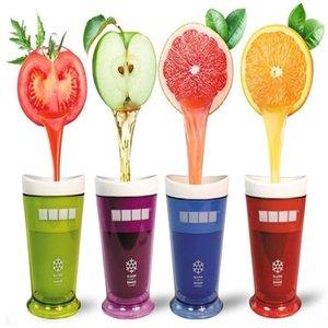 Creative Milkshake Smoothie Slush Shake Maker Cup Ice Cream Molds Popsicle Molds Fruit Smoothie Cream Maker Tools T3I0152