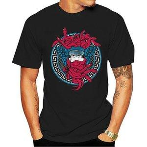 Castelos e Castelos Men's Illuminati Skull Manga Curta T Roupas Pretas Nova Frio Camiseta