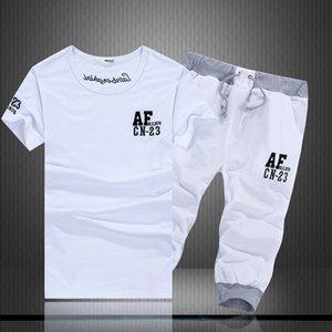 AF verão de manga curta letra t-shirt Capris Casual 1