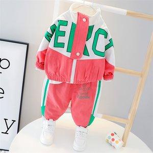 Hylkidhuose Sets de ropa para bebés recién nacidos 2020 Autumn Baby Girls Boys Ropa Abrigos de moda Pantalones Niños Niños Casual Traje 771 V2