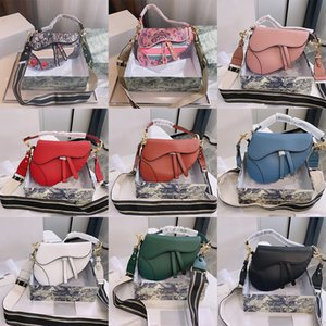2021 حقائب الكتف العلامة التجارية مصمم السيدات مزاجه أزياء فاخرة متجمد مطرزة جلدية حقيبة سرج المحمولة
