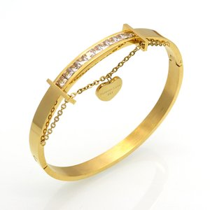 Love Bracelets Jewelry Heart Crystal Bracelets & Bangles Gold Colour Charm Bracelets For Women pulseiras Famous Brand Jewelry