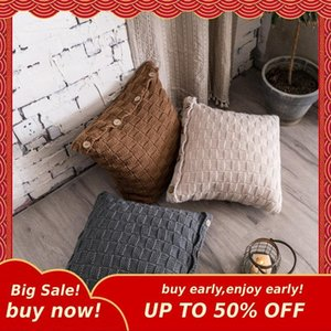 Pillow Case MIHE Geometric Knitting Pillowcase 45x45 60x60cm Decorative Bedding Use Home Textile 35x65cm Cover B-BZT16