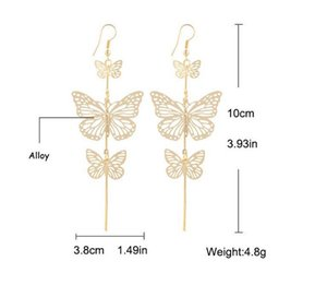 Statement Earrings Fashion Hut Fashion 2016 New Zinc Alloy Hot Selling Rock Exaggerated Hollow Butterfly Earrings 350 G2