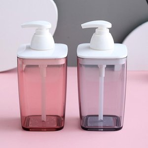 Liquid Soap Dispenser 420ml Pump Bottle Transparent Foam Press Bottles Bathroom Facial Cleanser Type Mousse