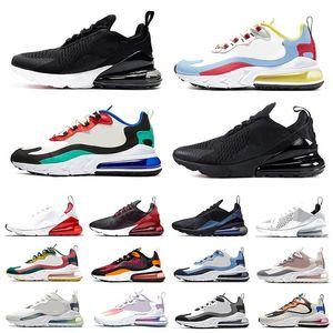 bauhaus blue 270 react mens running shoes triple black white bred dusk purple oracle aqua 270s safari men women trainers sports sneakers