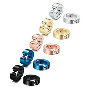 Magnetic Non-Pierced Earrings Titanium Stainless Steel ear clips metal punk hip-hop stud 1839 1279 Q2