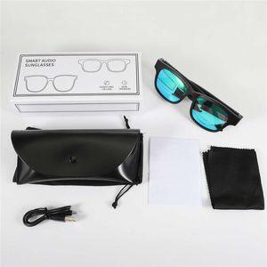 A14 패션 2 in 1 Smart Audio 선글라스 안경 편광 코팅 렌즈 블루투스 헤드셋 헤드폰 듀얼 스피커 핸즈프리 호출