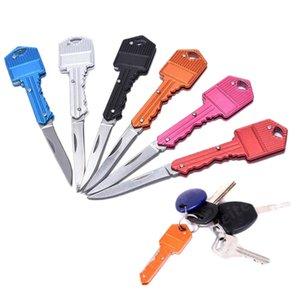 Heart Shape Multifunctional Key Chain Knife Mini Folding Knifes FruitKnife Outdoor Saber Swiss Self-defense Knives EDC Tool Gear WLL182