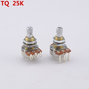 [Made in USA]1 Piece TQ A25K Brass Shaft Potentiometer(POT) For Electric Guitar Bass Active Pickup