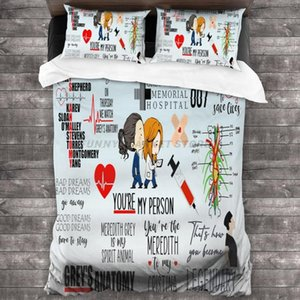 Bedding Sets Grey's-Anatomy Kids Comforter Set For Boys Girls, Soft Microfiber Twin Size, Sheet With 2 Pillowcases