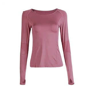 Women Yoga Top Sport Long Sleeves Shirt Back Mesh Women Gym Shirt Sportswear Slim Active Wear Breathable Skin-friendly Tops wmtcxw xhlove