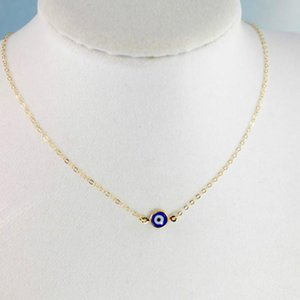 2021 Fashion Bohemian Necklace Blue Evil Eye Pendant For Birthday Friendship Jewelry Mothers Day Gift