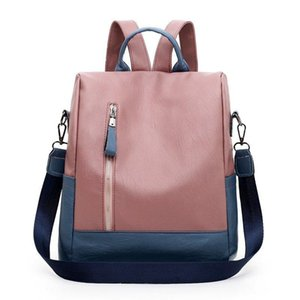 Backpack Style Casual All-match Large-capacity Female Autumn 2021 PU Trend Outdoor Travel Simple One-shoulder Messenger Bag