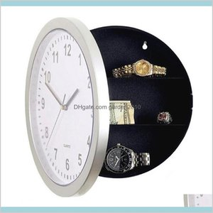 Wall Clocks Home Décor & Garden Wholesale- Modern Design Mechanical Clock Safe Storage Box Plastic Jewelry Money Hidden Secret Stash D